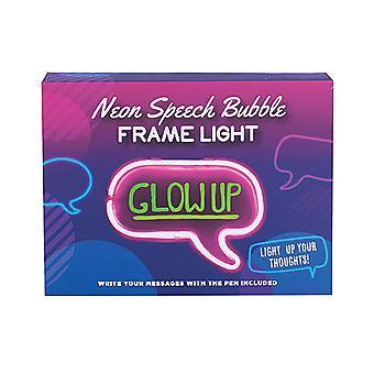 Neon Speech Bubble Frame Licht