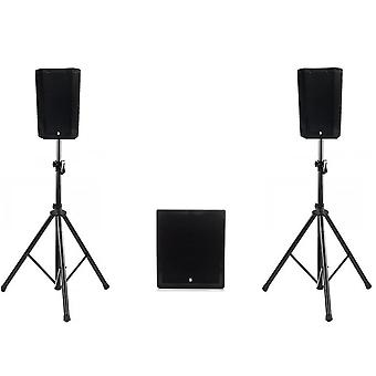 Big gig rig 46 - ultra compact active pa system 1100w rms 8 tops and 12 sub with bluetooth