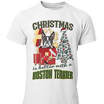 Boston Terrier Christmas dog t-shirt
