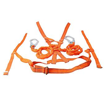 High Strength Poliester Nylon Fall Protection Full Body Safety Ham
