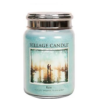 Village Candle Premium 26oz Scented Candle Jar Rain