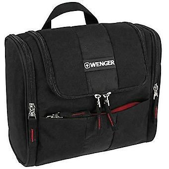 Wenger Hanging Toiletry Bag with 3 Pockets and Main Compartment 26 cm, Black