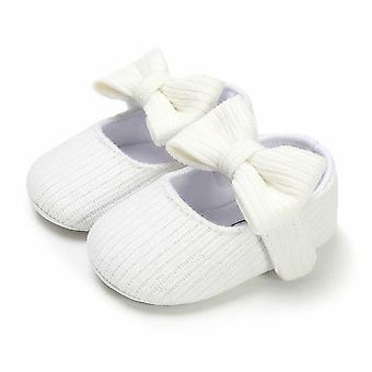 First Walker Soft Cotton Sole Princess Bowknot Baby Shoes