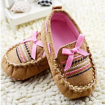 Butterfly-knot Design Spring Autumn Crib Shoe