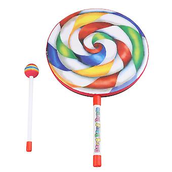 9.8 Inch Lollipop Shape Drum Percussion Education Toys for Kid and Baby