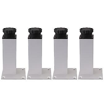 4PCS 12CM Altezza Alluminio Lega Mobili Gambe Gambe Regolabili Piedini di supporto