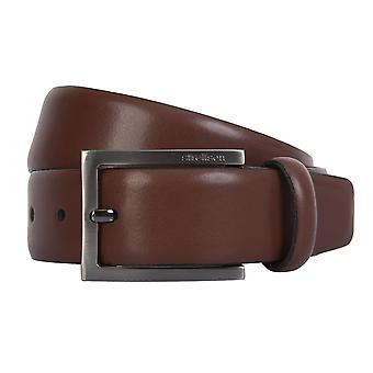 Strellson belts men's belts leather leather belt Cognac 2302