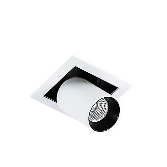 Moderne technische LED inbouw plafond wit, zwart, koel wit 4000k 810lm