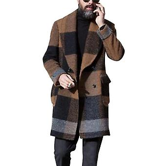Men Slim Fit Long Sleeve Cardigans Blends Coat Jacket Suit Woolen Colorful