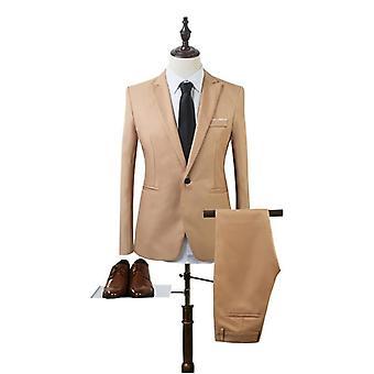 2 ks Business Blazer + kalhoty Suit Sets Pánské podzimní módy