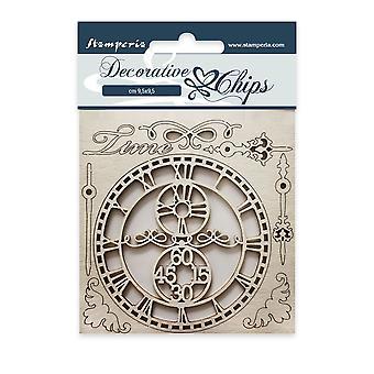 Stamperia Decoratieve Chips Tijd