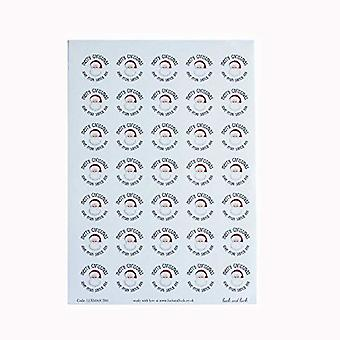 Christmas Stickers Love from Santa Sticker Sheet, Total 35 Stickers Circular