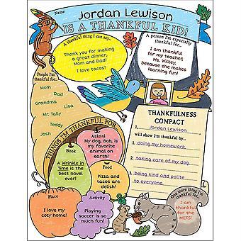 Personal Poster Set: Im A Thankful Kid!, Grades 3-6