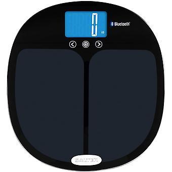 Salter Curve Smart Analyser Digital Bathroom Scales - Bluetooth Scale, Connect Smartphone - Black