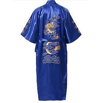 Παραδοσιακά ανδρικά ρούχα ύπνου/ χαλαρά νυχτικά/ μπουρνούζι με κέντημα