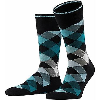 Burlington Newcastle Socks - Black/Green