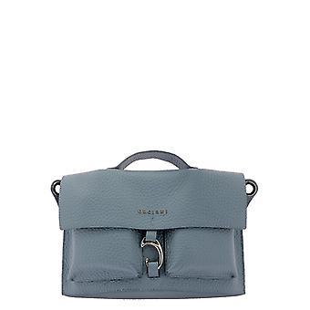 Orciani B02088softortensia Women's Light Blue Leather Shoulder Bag