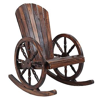 Wagon Wheel Wood Adirondack-style, Garden Furniture Rocking Chair / rocker Patio