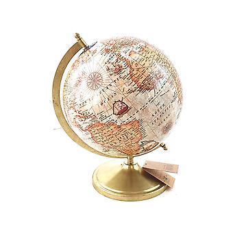 Globe metalen voet goud 37,5 cm
