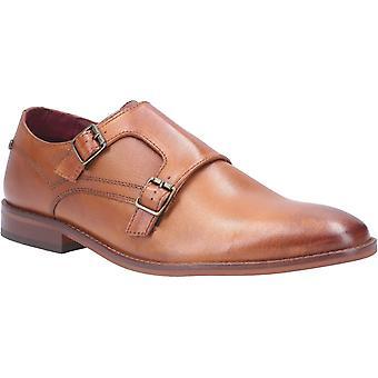 Base Montage Washed Mens Leather Formal Shoes Tan UK Size