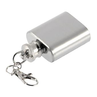 Portable 1oz Mini Stainless Steel Alcohol Flask Keychain