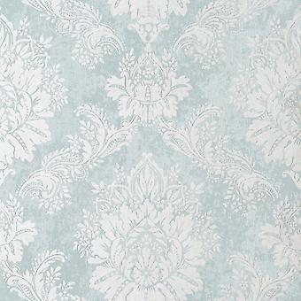 Bloomsbury Damask Wallpaper Teal Rasch 204810