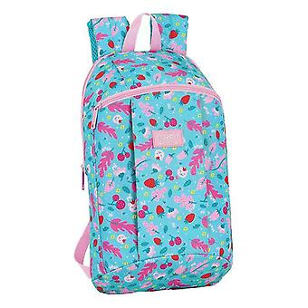 Casual backpack blackfit8 cat forest