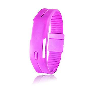 Rubber Strap, Led Digital Display Sports Wristwatch