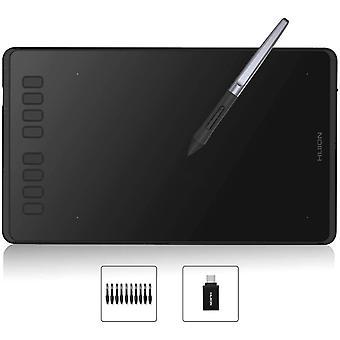 Wokex Inspiroy H950P Grafiktablett(untersttzt OS Android) 8 benutzerdefinierbare ExpressKeys mit