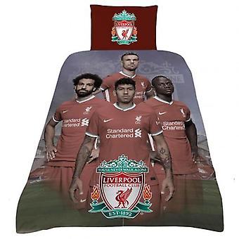 Jogadores do conjunto de edredons do Liverpool