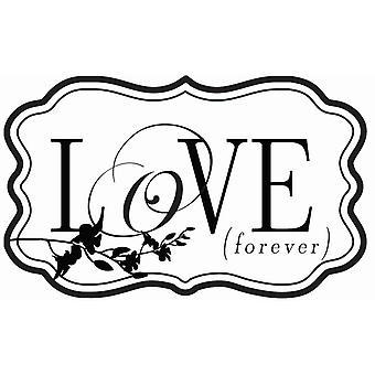Hampton Art Wood Mounted Stamp - Love Forever