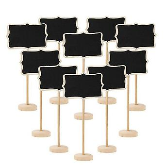 Wooden Chalkboard And Mini Wood Message Notice Board