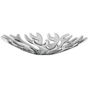 vidaXL Obstschale Flammenform Aluminium Silber