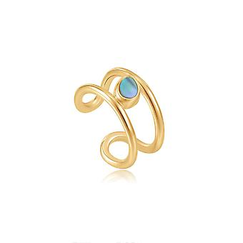 Ania Haie Shiny Gold Tidal Abalone Ear Cuff E027-02G