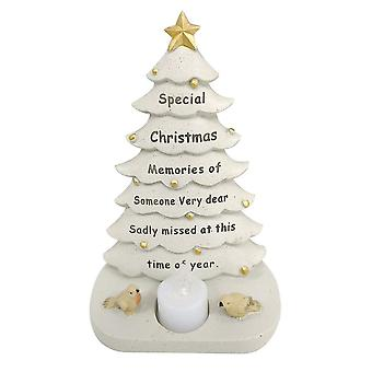 David Fischhoff Someone Special Christmas Tree With Flickering Led Candle Light Memorial Ornament