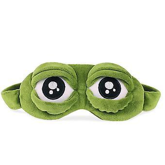 3d trist frosk øyedeksel søvnmaske