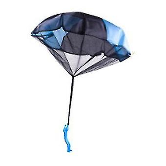 Blauwe kinderen parachute speelgoed tangle gratis gooien hand gooien parachute leger man gooi het op x1002