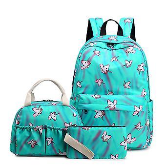 Unicorn الكرتون طباعة حقيبة غداء حقيبة الغداء حالة قلم رصاص للفتيات