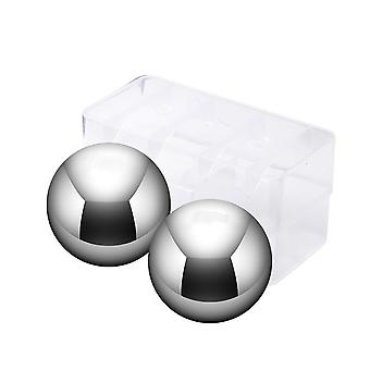 2pcs Stainless Steel Durable Large Ice Ball Ice Cube Wine Cooling Ball Reusable Chilling Stone