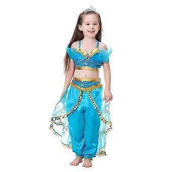 Tanssi mekko Lasten mekko Tyttö Jasmine Prinsessa Mekko Tyttö Mekko(130CM)