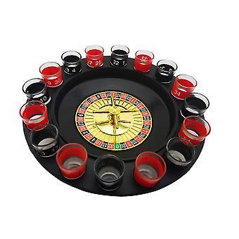 شريط مضحك أدوات روسيا القرص الدوار النار الزجاج شرب لعبة الروليت مجموعة 16 ثقوب حزب تدور عجلة