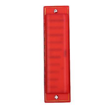 מפוחית פלסטיק 10 חורים מפוחית כלי צעצועים לילדים אדום