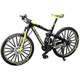 Deko Fahrrad Miniatur 1:10 (MTB Slalom gelb)