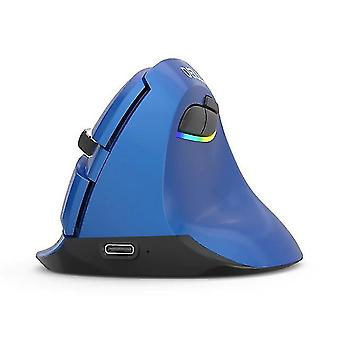 Wireless Mouse Silent Vertical Computer Mice(blue)