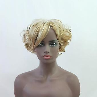 Women Short Curly Hair Wigs(Golden)