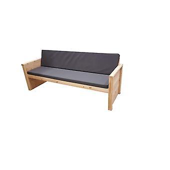 Wood4you - Tuinbank Vlieland - 'Doe het zelf' Bouwpakket douglashout 180Lx72Hx57D cm - Incl kussen