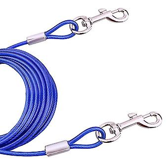 Double-end Steel Wire Rope Pet Dogs 2 in 1 Traction Rope Pet Walking Leads With Handle, Length: