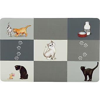 Trixie Patchwork Plastic Cat Place Mat