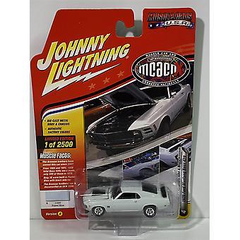 1970 Ford Mustang BOSS 429 Pastelli Sininen Johnny Lightning JLMC016