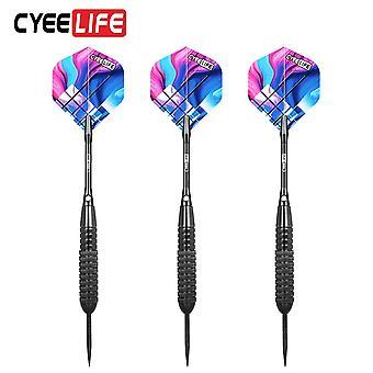 Cyeelife 3pcs stalen puntige darts indoor sport games 22g standaard harde darts vernikkeld ijzer vat al schachten aurora vleugel